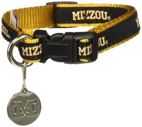 Missouri Tigers Embroidered Dog Collar