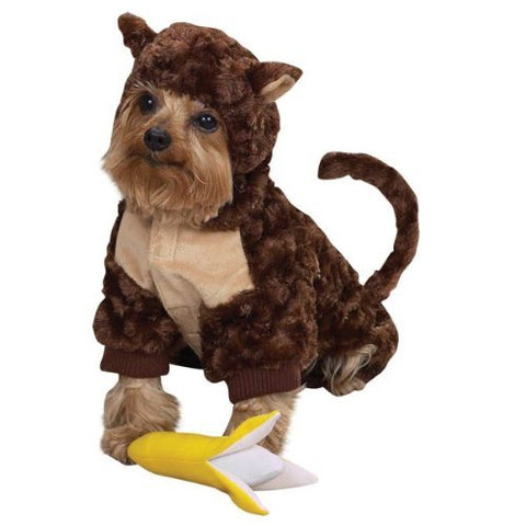 Zack and Zoey Monkey Dog Costume-DOG-Zack & Zoey-X-SMALL-Pets Go Here costume, l, m, m/l, s, s/m, xl, xs, yellow, zack & zoey Pets Go Here, petsgohere