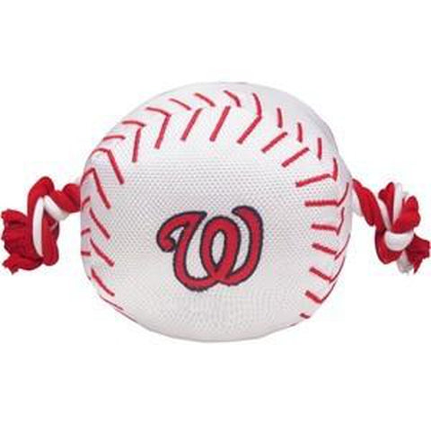 Washington Nationals Dog Toy w/ Rope-DOG-Pets First-Pets Go Here