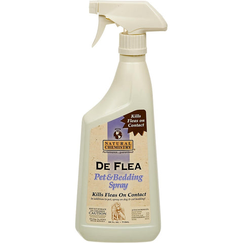 Natural Chemistry De Flea Dog & Bedding Spray 24 oz-DOG-Natural Chemistry-Pets Go Here
