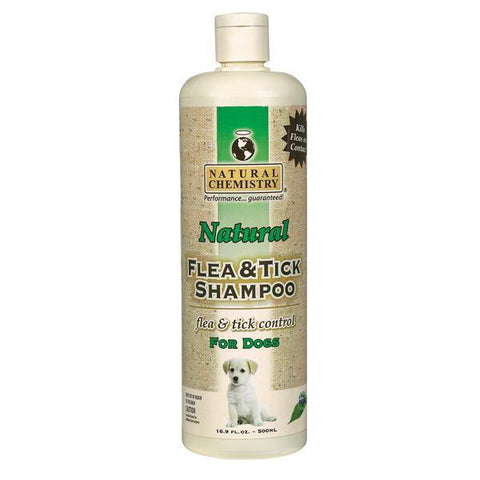 Natural Chemistry Flea & Tick Shampoo for Dogs 16.9 oz-DOG-Natural Chemistry-Pets Go Here