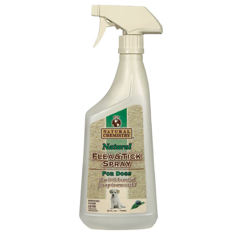 Natural Chemistry Flea & Tick Spray for Dogs 24 oz-DOG-Natural Chemistry-Pets Go Here