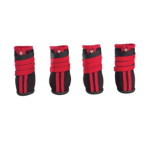 Zack and Zoey High Top Neoprene Boots RED-DOG-Zack & Zoey-X-SMALL-Pets Go Here boots, dog boots, l, m, m/l, red, s, s/m, xl, xs, zack & zoey Pets Go Here, petsgohere