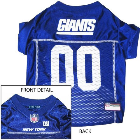 New York Giants Dog Jersey-DOG-Pets First-MEDIUM-Pets Go Here l, m, nfl, pets first, s, test, xl, xs Pets Go Here, petsgohere