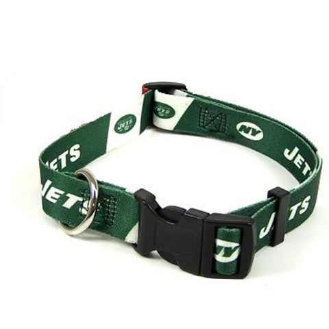 New York Jets Dog Collar-DOG-Hunter-XX-SMALL-Pets Go Here hunter, l, m, m/l, nfl, nylon, s, s/m, xl, xs Pets Go Here, petsgohere