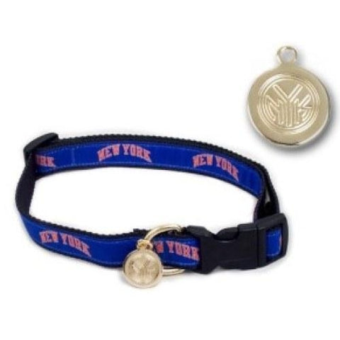 New York Knicks Embroidered Dog Collar-DOG-Hunter-Pets Go Here hunter Pets Go Here, petsgohere