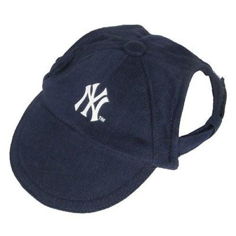 New York Yankees Dog Hat Review-DOG-Sporty K9-X-SMALL-Pets Go Here ball cap, hat, l, m, m/l, mlb, s, s/m, sports, sports hat, xl, xs Pets Go Here, petsgohere