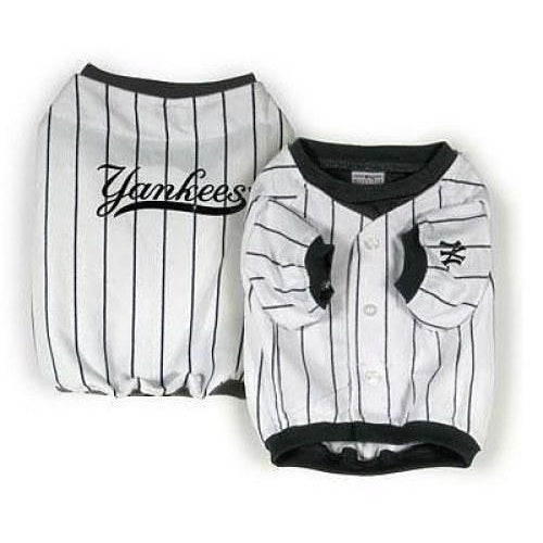 size 40 23abd 10bb8 MLB New York Yankees Dog Jersey WHITE VINTAGE