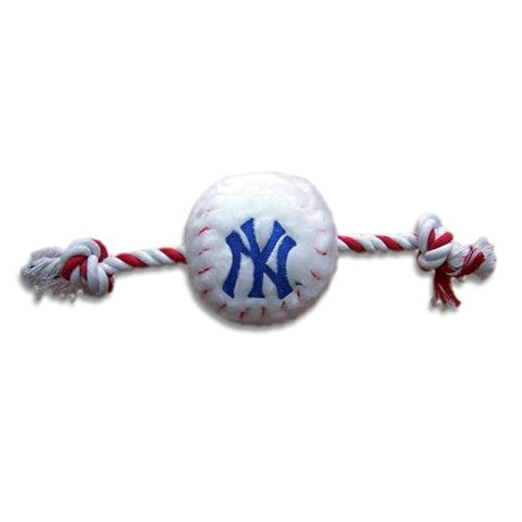 New York Yankees Plush Dog Toy-DOG-Pets First-Pets Go Here mlb, pets first, plush, sports, sports toys Pets Go Here, petsgohere