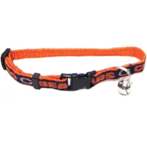 Chicago Bears Breakaway Cat Collar-CAT-Pets First-Pets Go Here cat collar sports, nfl, nfl cat collar, nylon, pets first, sports, sports collar Pets Go Here, petsgohere