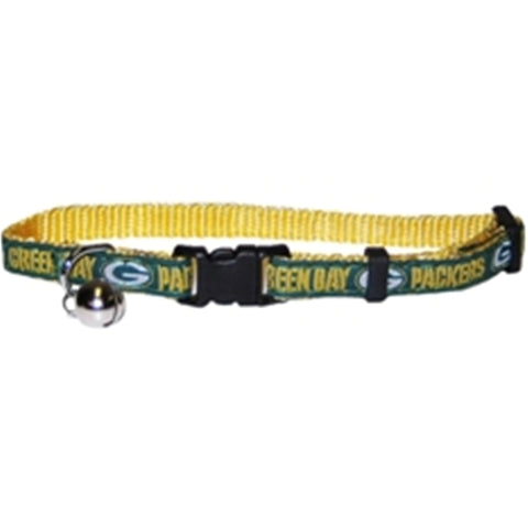 Green Bay Packers Cat Collar-CAT-Pets First-Pets Go Here green, hunter green, nfl, nfl cat collar, nylon Pets Go Here, petsgohere