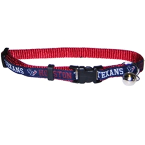 Houston Texans Cat Collar-CAT-Pets First-Pets Go Here nfl, nfl cat collar, nylon Pets Go Here, petsgohere