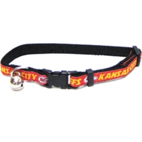 Kansas City Chiefs Breakaway Cat Collar-CAT-Pets First-Pets Go Here nylon, pets first Pets Go Here, petsgohere