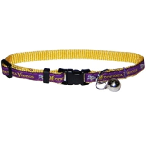 Minnesota Vikings Cat Collar-CAT-Pets First-Pets Go Here nfl, nfl cat collar, nylon Pets Go Here, petsgohere