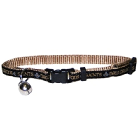 New Orleans Saints Breakaway Cat Collar-CAT-Pets First-Pets Go Here nylon, pets first Pets Go Here, petsgohere