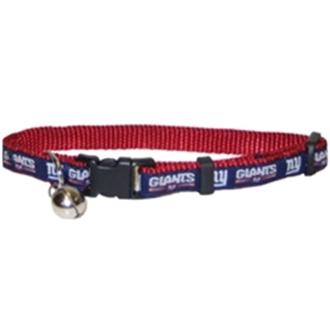 New York Giants Cat Collar-CAT-Pets First-Pets Go Here nfl, nfl cat collar, nylon Pets Go Here, petsgohere