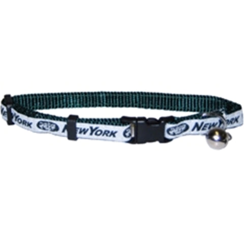 New York Jets Cat Collar-CAT-Pets First-Pets Go Here cat collar sports, nfl, nfl cat collar, nylon, sports Pets Go Here, petsgohere