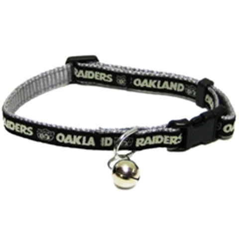Oakland Raiders Cat Collar-CAT-Pets First-Pets Go Here cat collar sports, nfl, nfl cat collar, nylon, sports Pets Go Here, petsgohere