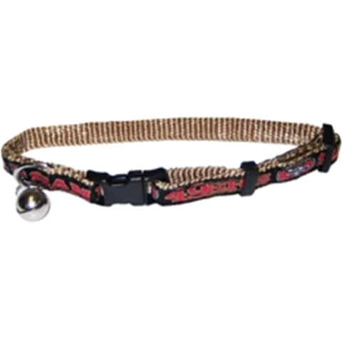 San Francisco 49ers Cat Collar-CAT-Pets First-Pets Go Here cat collar sports, nfl, nfl cat collar, nylon, sports Pets Go Here, petsgohere