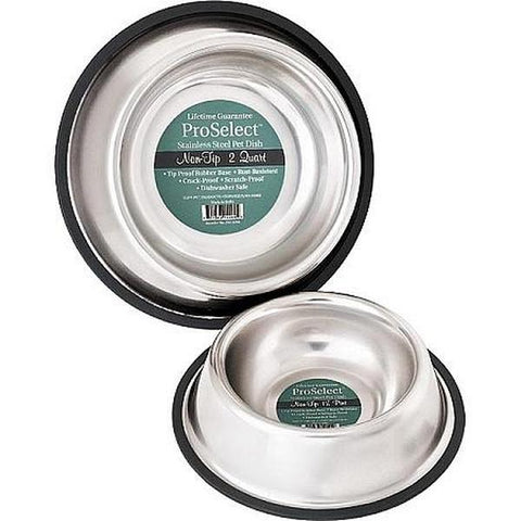 Classic Stainless Steel Non-Tip Dog Bowl
