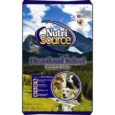 NutriSource Grain Free Heartland Select Dog Food 15 LB-DOG-NutriSource-15 Lb-Pets Go Here