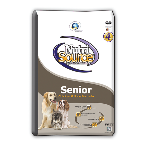 NutriSource Senior CHICKEN & Rice Formula Dry Dog Food 1.5 Lb-DOG-NutriSource-1.5 Lb-Pets Go Here
