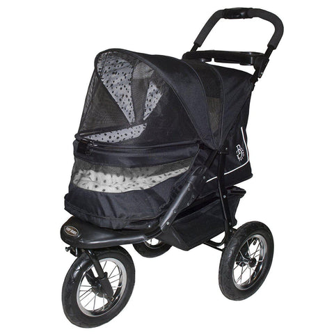 Pet Gear NV No-Zip Pet Stroller-DOG-Pet Gear-DALMATION-Pets Go Here black, dalmation, green, pet gear, plush, rose, skyline, stroller Pets Go Here, petsgohere