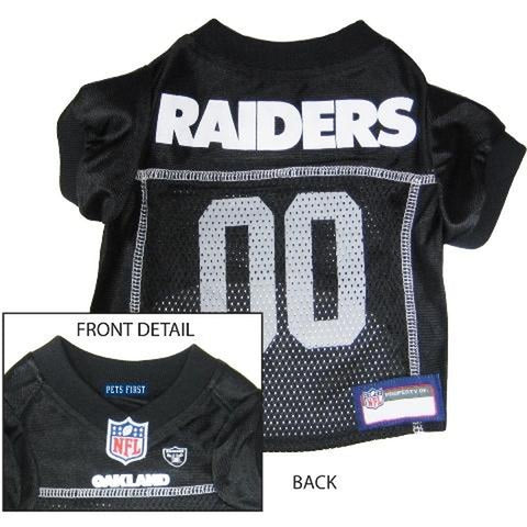 Oakland Raiders Dog Jersey-DOG-Pets First-LARGE-Pets Go Here