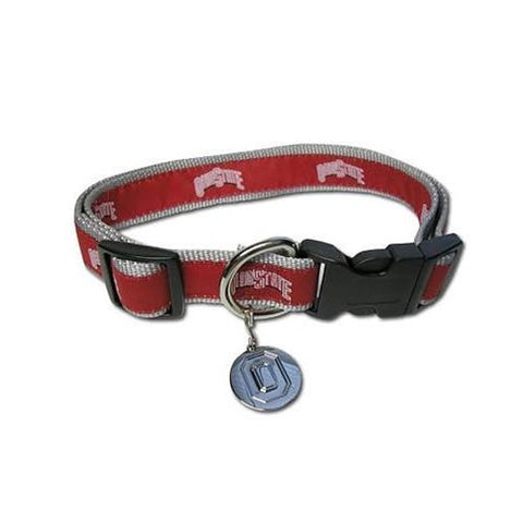 Ohio State Buckeyes Dog Collar Embroidered-DOG-Hunter-Pets Go Here