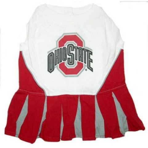 Ohio State Dog Cheerleader Costume Dress-DOG-Pets First-Pets Go Here