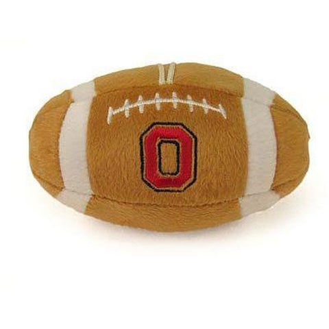 Ohio State Plush Football Dog Toy-DOG-Sporty K9-Pets Go Here costume, dog, dog dress, doggienation, ds, fabric, ncaa, pets first, sports, sports toys, sporty k9, uniform Pets Go Here, petsgohere