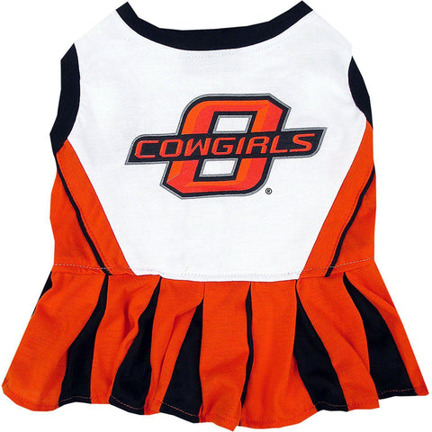 Oklahoma State Cheerleader Dog Dress-DOG-Pets First-MEDIUM-Pets Go Here costume, dog, dog dress, l, m, ncaa, pets first, s, sports, test, uniform, xl, xs Pets Go Here, petsgohere