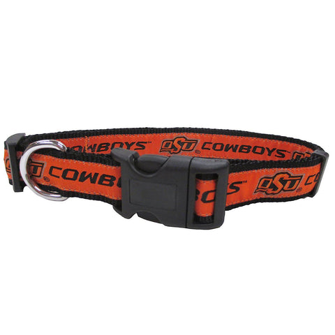 Oklahoma State Dog Collar-DOG-Pets First-SMALL-Pets Go Here l, m, ncaa, pets first, s, sports, sports collar, xl, xs Pets Go Here, petsgohere