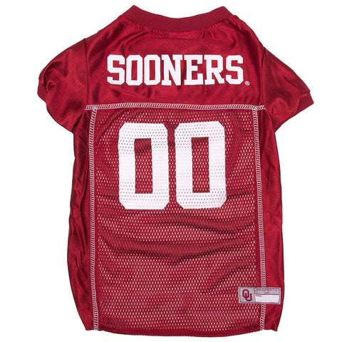 NCAA Oklahoma Sooners Dog Jersey WHITE THREADING