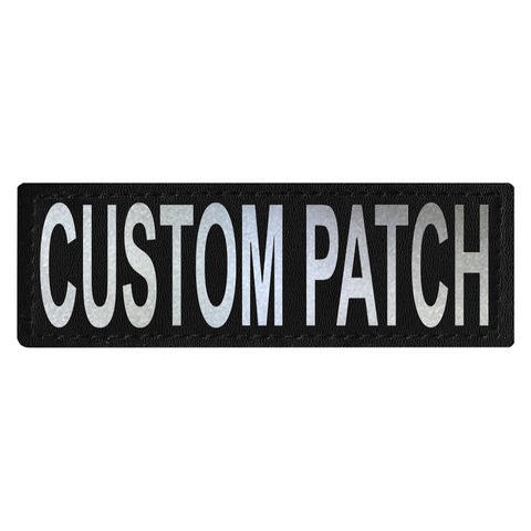 "Dogline Service Dog Patch CUSTOM REFLECTIVE-DOG-Dogline-3M REFLECTIVE-Size A - 1"" x 2.75""-Pets Go Here"