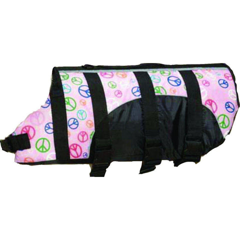 Guardian Gear Dog Life Jacket Peace Sign-DOG-Guardian Gear-XX-SMALL-Pets Go Here dog clothes, dog life jacket, guardian gear, l, m, preserver, reflective, rescue, s, safety, swim, teacup, vest, xs, xxs Pets Go Here, petsgohere