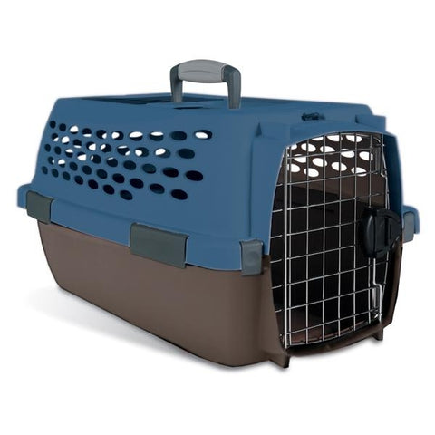 Petmate Fashion Vari Kennel up to 10 LB PEARL BREEZE/ BLACK-DOG-Petmate-Pets Go Here