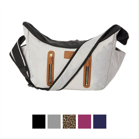 Pet Gear R&R Sling Crossbody Carrier-DOG-Pet Gear-BLACK-Pets Go Here black, blue, carrier, cat carrier, mulberry, navy, pet gear, test Pets Go Here, petsgohere