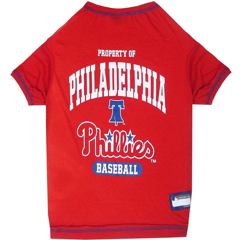 Philadelphia Phillies Dog Shirt-DOG-Pets First-X-SMALL-Pets Go Here l, m, mlb, pets first, s, sports, sports shirt, xl, xs Pets Go Here, petsgohere