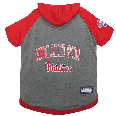 Philadelphia Phillies Dog Hoodie Shirt-DOG-Pets First-LARGE-Pets Go Here l, m, mlb, pets first, s, sports, sports shirt, test, xl, xs Pets Go Here, petsgohere