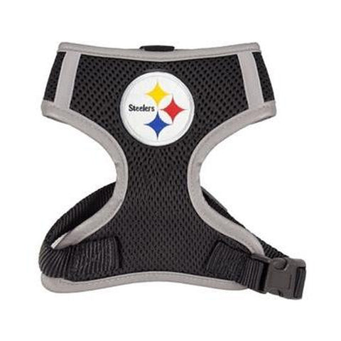 Pittsburgh Steelers Dog Harness Vest-DOG-Hip Doggie-X-LARGE-Pets Go Here hip doggie, hunter, l, m, nfl, nfl harness, reflective, s, sports, sports harness, vest, xl, xs Pets Go Here, petsgohere