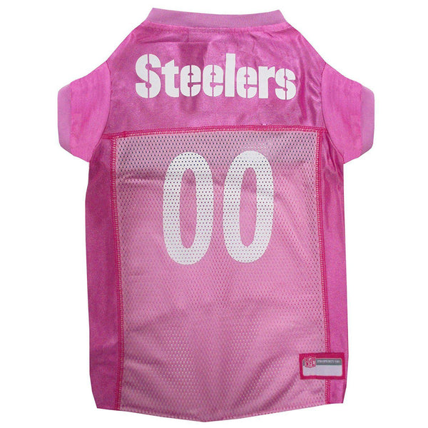 2128b6a7c Pittsburgh Steelers PINK Dog Jersey-DOG-Pets First-LARGE-Pets Go Here