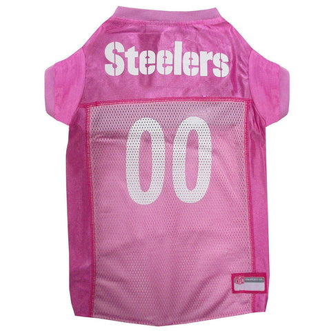 Pittsburgh Steelers PINK Dog Jersey-DOG-Pets First-LARGE-Pets Go Here l, m, nfl, pets first, pink, s, test, xl, xs Pets Go Here, petsgohere