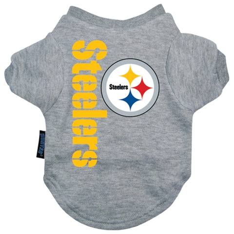 Pittsburgh Steelers Shirt-DOG-Hunter-SMALL-Pets Go Here gray, hunter, l, m, nfl, s, sports, sports shirt, xl, xs Pets Go Here, petsgohere