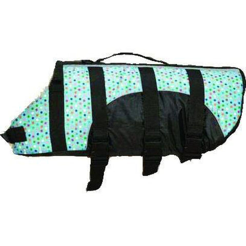 Guardian Gear Dog Life Jacket Polka Dot-DOG-Guardian Gear-XX-SMALL-Pets Go Here dog clothes, dog life jacket, guardian gear, preserver, reflective, rescue, safety, swim, vest, xxs Pets Go Here, petsgohere