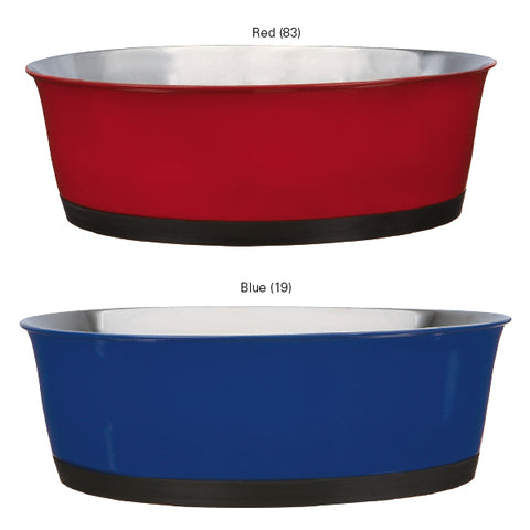 ProSelect Colored Bowls with Rubber Base-DOG-ProSelect-9 Oz-BLUE-Pets Go Here 9 oz, blue, bowl, dog bowl, proselect, red, rubber Pets Go Here, petsgohere