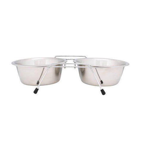 Proselect Chrome Wire Frame Elevate Dog Bowl-DOG-Pets Go Here-Pets Go Here