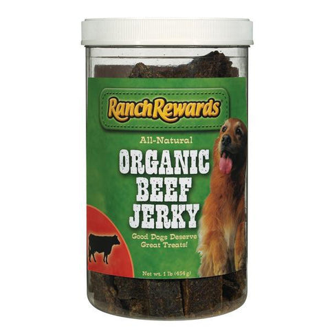 Ranch Rewards Organic BEEF Jerky-DOG-Ranch Rewards-Pets Go Here crunchy, dog training, jerky, ranch rewards, training, treat Pets Go Here, petsgohere