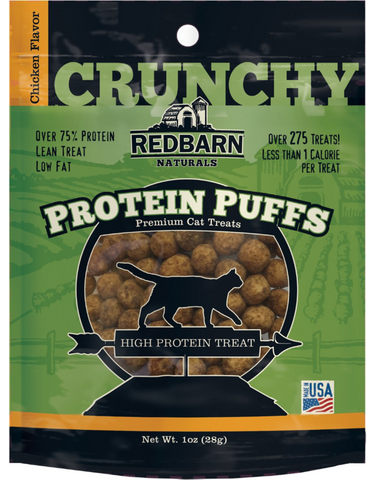 Redbarn Protein Puffs Cat Treats Chicken 1 Oz