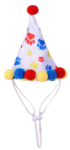 Rubie's Paw Print Dog & Cat Birthday Hat S